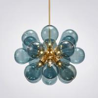 ingrosso bolle di sospensione-Nordic Glass Bubbles Parlor Led Pendant Light Loft Deco Hotel Sala Camera da letto Sala da pranzo Lampade Sospensione CA 100-240V