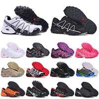 Wholesale snow jogging boots for sale - Group buy 2020 New Speed cross CS running shoes III IV mens womens Black White breathable Athletics Shoes sports Sneakers size