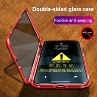 Wholesale case for iphone glasses online – custom For iPhoneXS MAX anti peep phone case XR magnetic Adsorption double sided glass i7 P all inclusive protective cover