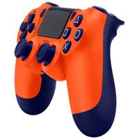 kablosuz kumanda çubuğu toptan satış-ŞOK 4 Kablosuz Denetleyicisi ÜST kalite Gamepad Perakende paketi ile PS4 Joystick için LOGO Oyun Denetleyicisi ücretsiz DHL kargo