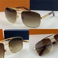 klasik güneş gözlüğü toptan satış-yeni moda klasik güneş gözlüğü Attitude güneş gözlüğü altın çerçeveli kare metal çerçeve bağbozumu tarzı açık tasarım klasik modeli 0259