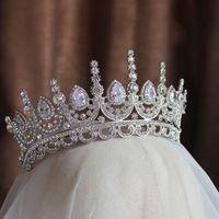 ingrosso fasce di bellezza-Himstory Noble Beauty Princess Tiara Cubic Zircon Wedding Bridal Crown Strass Pageant Crown Per Brides Fasce