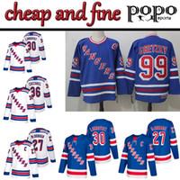 ny rangers hockey jersey оптовых-Трикотажные изделия New Hockey Jerseys Нью-Йорк Рейнджерс 30 Хенрик Лундквист 36 Матс Цуккарелло 27 Райан МакДонах Нью-Йорк