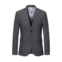 Wholesale mens suit costumes online - Mens Striped Blazer Jacket Luxury Brand Single Breasted Suit Blazer Men Wedding Party Blazers Jackets Veston Homme Costume