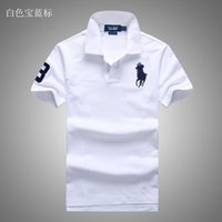 t-shirts ralph großhandel-Ralph Polo Lauren Polo Marke Männer Tdesigner Polo Outdoor Polo Shirt lässig Baumwolle T-Shirt Herren hochwertige Polo verschiedene Farben T-Shirt 1: 1