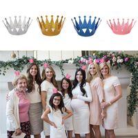 ingrosso decorazioni della corona della principessa-6pcs / Lot Birthday Princess / Prince Crown Caps Decorazioni per feste di compleanno