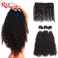 insan saç örgüleri için fiyat toptan satış-Brezilyalı Saç Örgü Demetleri Afro Kinky Kıvırcık İnsan Saç Demetleri 3 Adet Işlenmemiş Brezilyalı Kıvırcık Saç Demetleri 10-26 inç Fabrika Fiyat