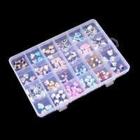 Wholesale art chinese jewelry resale online - Adjustable Clear Plastic Slots Beautiful Jewelry Nail Art Rhinestone Empty Storage Box Case Craft Travel Organizer Bead