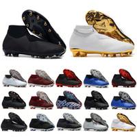 ag ayakkabıları toptan satış-Erkek futbol cleats Phantom VSN Elite DF FG AG açık futbol ayakkabı x EA Spor Phantom Görüş futbol çizmeler scarpe calcio 39-45