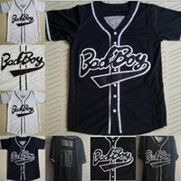 baseball-sweatshirts schwarz groihandel-Film Pullover Mens bad boys # 10 schwarze Baseball Jersey Sweatshirt weiß direkt senden hiphop T-Shirt, 100% Alle genähtes