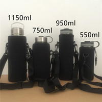 Wholesale bottle insulated sleeve resale online - Neoprene Water Bottle Sleeve Outdoor Large Vacuum Bottle Insulated Cover Portable Non Slip Can Be Hung A03