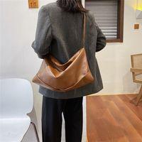bolsas de couro grande hobo venda por atacado-Luxo Mulheres Handbag 2019 Novo PU bolsa de couro Feminino macio Hobo Bag Grande Capacidade Shopper Tote Bolsa Sac A principal # 40
