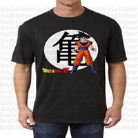 bande dessinée de fond achat en gros de-Goku Cartoon fond T-shirtMens noir à manches courtes Tops Mode col rond T-shirts Taille S M L XL 2XL 3XL