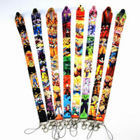 Wholesale key chain ball resale online - Dragon Ball Lanyards Cartoon Movie Badge Holder Keychain Straps Mobile Phone Key Chain Phone Lanyards OOA6363
