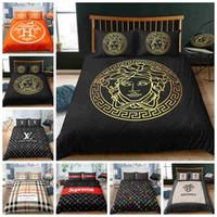 kraliçe kraliçe yatak toptan satış-Yastık kılıfı ile Comforter Kapağı dokunmak Şık Lüks Yatak Seti King Size Yataklı Tam Kraliçe Tek Çift Nevresim Seti Güzel Yumuşak