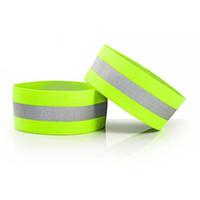 braçadeiras para mulheres venda por atacado-Alça de Braço Banda Reflexiva de Alta Visibilidade Correndo Arm Warmers Elastic Wrist Band para Homens Mulheres Ourdoor Atividades