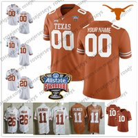 texas longhorns jerseys al por mayor-Custom Texas Longhorns College Football Brunt Orange White Cualquier nombre Número Watson McCoy Young 11 Ehlinger Humphrey Sterns Sugar Bowl Jersey