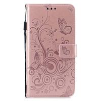 ingrosso caso di vibrazione del iphone della farfalla-Custodia Flip Case in rilievo a fiore farfalla per iphone 6 6s 7 8 plus x xr xs max con porta carte di credito