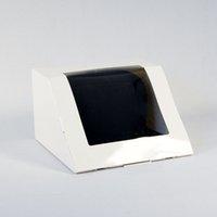 ingrosso pacchetti di cappello-Confezione scatola di carta regalo di imballaggio bianco nero confezione regalo per cappelli da baseball cappello da baseball cappello hip-hop ZC0547