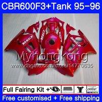 1996 honda cbr pink fairings toptan satış-Bodys + Tankı HONDA CBR 600 F3 FS CBR600FS CBR600 F3 Parlak Gül Pembe 95 96 289HM.31 CBR600RR CBR600F3 95 96 CBR 600F3 1995 1996 Kaporta