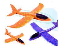 uçan kayıklar oyuncakları toptan satış-Köpük Uçak Atma Planör Oyuncak Uçak Atalet Köpük EPP Uçan Modeli planör Açık Eğlence Spor Uçaklar oyuncak çocuklar için