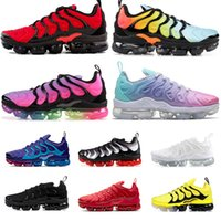 mens size sneakers 도매-nike air vapormax plus tn 2020 off white Size 13 Mens Womens Stock x Running Shoes Triple Black White Smokey Mauve BETRUE Speed Red Designer Sneakers Trainers