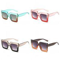1164e5a3484a Wholesale factory direct sunglasses for sale - Trend Large Border Sunglasses  Two Color Transparent Vintage Shaped