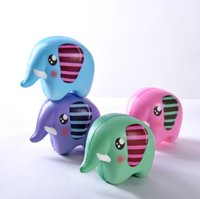 Wholesale new elephant decor resale online - New Multicolor Cute Squishy Elephant Healing Squeeze Flexible Kids Toy Gift Stress Reliever Decor