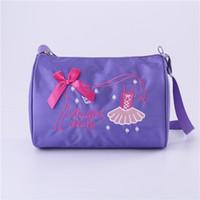 Kids Girls Fashion Adorable Ballet Tutu Dance Bag Embroidered Ballerina  Dancing Duffle Bag Handbag Shoulder 4da5b87846dfb