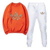 vêtements de jogging achat en gros de-Survêtements de marque pour hommes Sportswear Costumes de jogging pour hommes Sweats à capuche chandails Printemps Automne Casual Unisexe Marque Sportswear Ensembles Vêtements Out