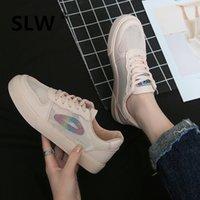 повседневная обувь оптовых-Breathable Shoes Solid 2019 Fashion Women's Flats Round Toe All-Match Tennis  Sports Summer Dress Nurse Woman Small Casual