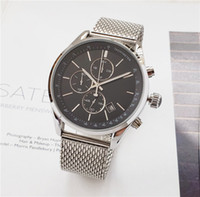 Wholesale watches waterproof stopwatch for sale - Group buy BOSS watch luxury mens watches All pointer work functional chronograph quartz watch stainless steel strap waterproof designer stopwatch
