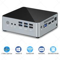 intel i5 masaüstü toptan satış-Kc3 Mini pc intel çekirdek i5 7200u i7 7500u DP VGA HDMI 4 k @ 60 HZ üçlü ekran pencereleri 7/10 linux DDR4 HTPC Nuc Masaüstü Bilgisayarlar