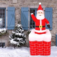 Wholesale toy arch resale online - 1 m Santa Claus Chimney Inflatable Toy Outdoors Xmas Decor Arch Ornament New Year Outdoor Santa Claus Decoration