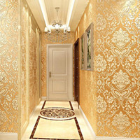 Wholesale textured paper resale online - Modern Damask Wallpaper Wall Paper Embossed Textured D Wall Covering For Bedroom Living Room Home Decor