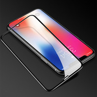 pantalla iphone großhandel-20pcs Full Cover Temepered Glass Screen Protector für iphone xr iphone xs maximaler Film