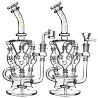 Wholesale glass resale online - Klein Recycler Tornado Percolator Glass Bong Wax Pipe Bongs Water Pipes Oil Dab Rigs With Heady Quartz Banger Or Herb Bowl dabber nail