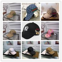 hakiki beyzbol deri toptan satış-10 Stilleri hakiki deri erkek kadın tuval şapka beyzbol web Beyzbol şapkası ile NY yama casquette de luxe tasarımcı şapkalar