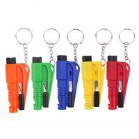 güvenlik düdükleri toptan satış-Mini Emniyet Çekiç Acil SOS Yardım Anahtarlık Düdük Bıçak Araba Emniyet Kemeri Kesici Pencere Arası Kaçış Pencere Camı Kesici