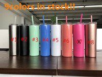 Wholesale tumbler gifts for sale - Group buy 9colors skinny tumbler oz straight tumblers stainless steel tumbler vacuum insulated Wine Mug Cup car cup Unique Gift for Woman