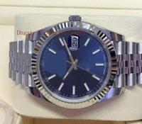 montres de marque dames chine achat en gros de-Mens Factory Fournisseur Top qualité luxe Datejust 41mm Cadran Bleu Mouvement Automatique Mouvement Montres Sport Hommes 41mm