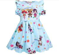 ingrosso spettacolo di compleanno-nelle vendite calde le neonate ragazze vestono la nuova bambola di estate di lol del vestito da festa di compleanno dei bambini mostrano i vestiti della manica di volo