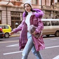 Wholesale design works coats online - Original Design Woman Pocket Work Clothes Jacket Women s Warm Parka Fur Collar Hooded Winter Thick Duck Down Coat Outwear Down Jacket
