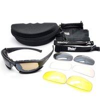 lunettes de soleil de chasse achat en gros de-Lunettes tactiques de chasse en plein air Lunettes Armée Lunettes De Soleil Avec 4 Lentilles Boîte Originale Hommes Tir Lunettes De Vue Gafas