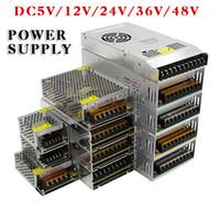 ingrosso ha portato 48v-Adattatore trasformatore LED Adattatore AC85-265V 110V 220V a DC5V 12 V 24 V 36 V 48 V 1A 2A 3A 5A 10A 15A 20A 30A 40A 80A Per Striscia Led