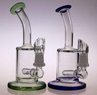 recicle o mini equipamento venda por atacado-QBsomk Mais Novo Cheech Bongos De Vidro Mini Tubos de Água Colorida 14mm Recipientes de Óleo de Mel Copa Reciclar Tubos de Alta Qualidade