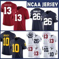 c480e7a65 Alabama Crimson Tide College NCAA Jersey 13 Tua Tagovailoa Michigan  Wolverines 10 Tom Brady Penn State Nittany Lions 26 Saquon Barkley