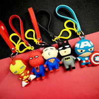 accesorios héroes maravilla al por mayor-The Avengers key chain bell couple Llavero Marvel Hero Car Key Holder Acrílico Bell Anime Key Chain Bag Pendant Bts Accesorios Regalo de niña