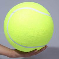 gatos gigantes do brinquedo venda por atacado-24 centímetros Pet Bolas de tênis Cão gigante Pet Toy Tennis Jogos de cão Balls inflável gigante Para Chew Toy não-tóxicos Brinquedos gato Sólidos