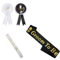 Groom to Be Sash Bride to Be Sahes for Stag Night Bachelor Party Decorations Ideas Wedding Engagement Bridal Shower Favor Gifts